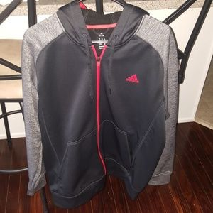Adidas Track Jacket Zipper Up with good Size XL.